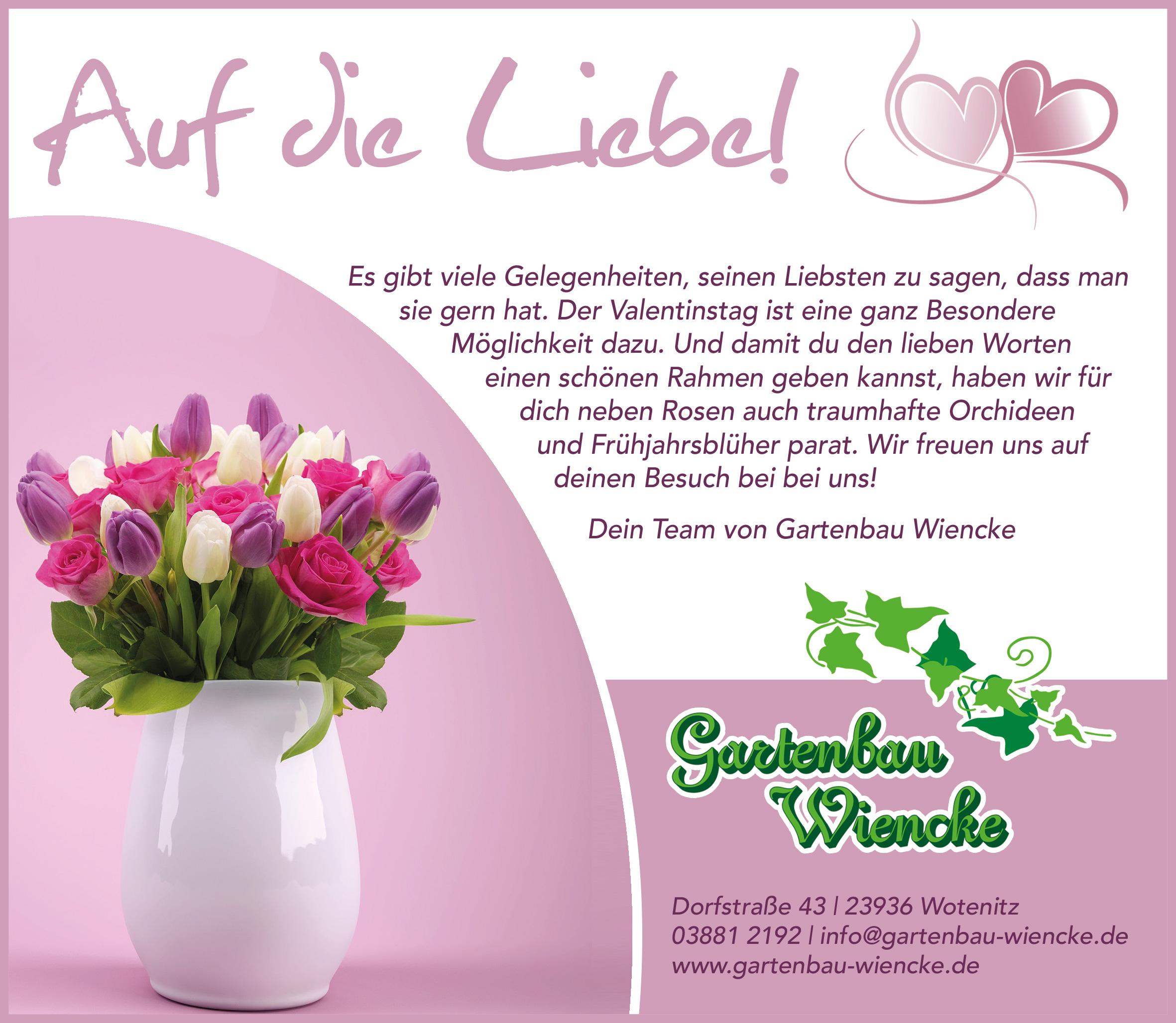 Valentinstag: Auf die Liebe!